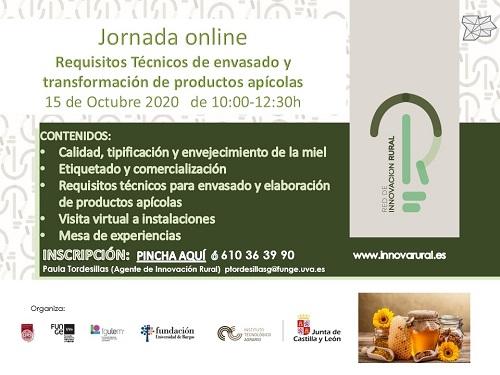 Requisitos técnicos de envasado y transformación de productos apícolas.