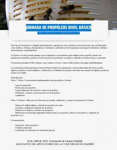 JORNADA DE PROPÓLEOS (NIVEL BÁSICO) @ Torremocha de Jarama (Madrid)